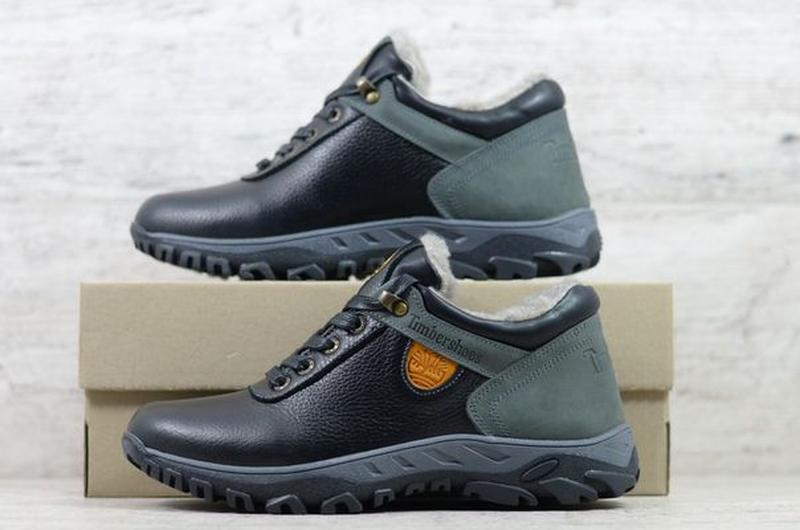 Мужские кожаные зимние ботинки/кроссовки Timberland - Фото 3
