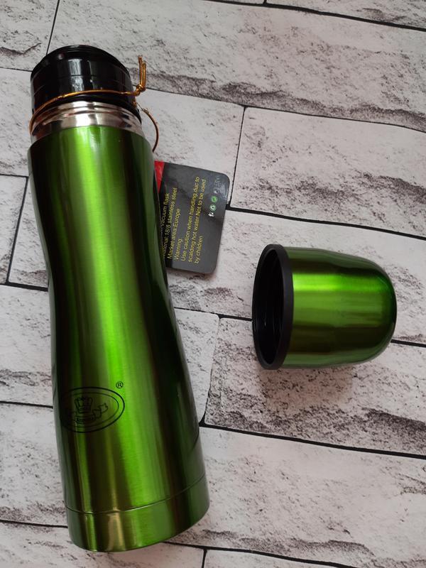 ????вакуумний термос із нержавіючої  сталі зелений????☕ 350 ml