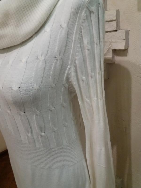 Тонкое шерстяное платье в косички. 40% шерсть ланы - Фото 4