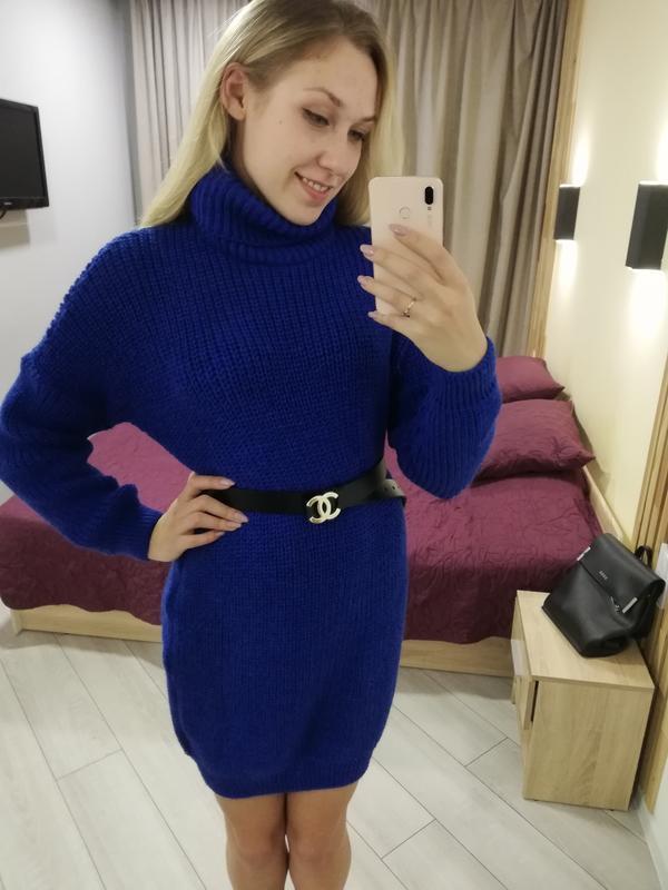 204596 платье туника, вязаное платье, вязаная туника, зимняя т...