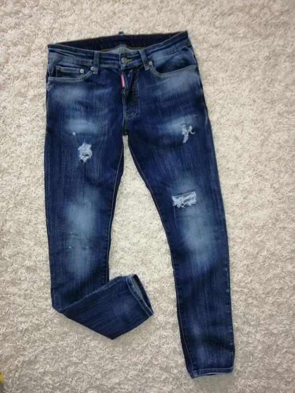 Брендовые мужские джинсы dsquared2 44 в прекрасном состоянии