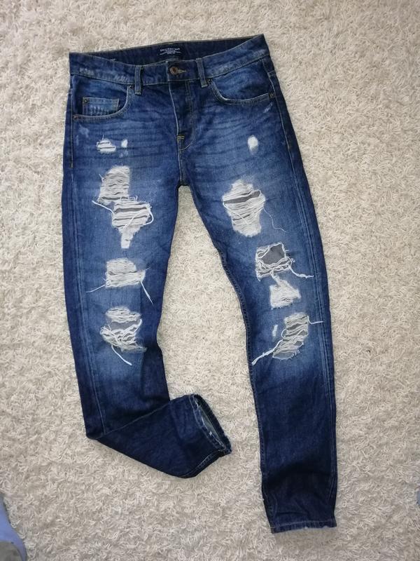 Стильные рваные мужские джинсы calliope 44 в прекрасном состоянии