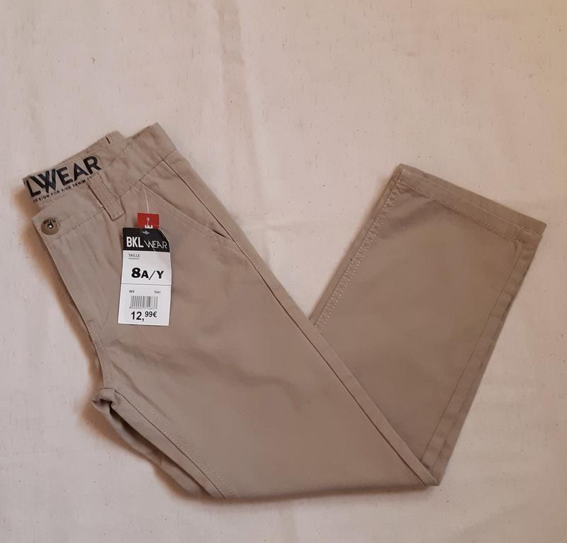 Брюки джинсы чиносы бежевые bkl wear франция на 8 и10 лет (128...