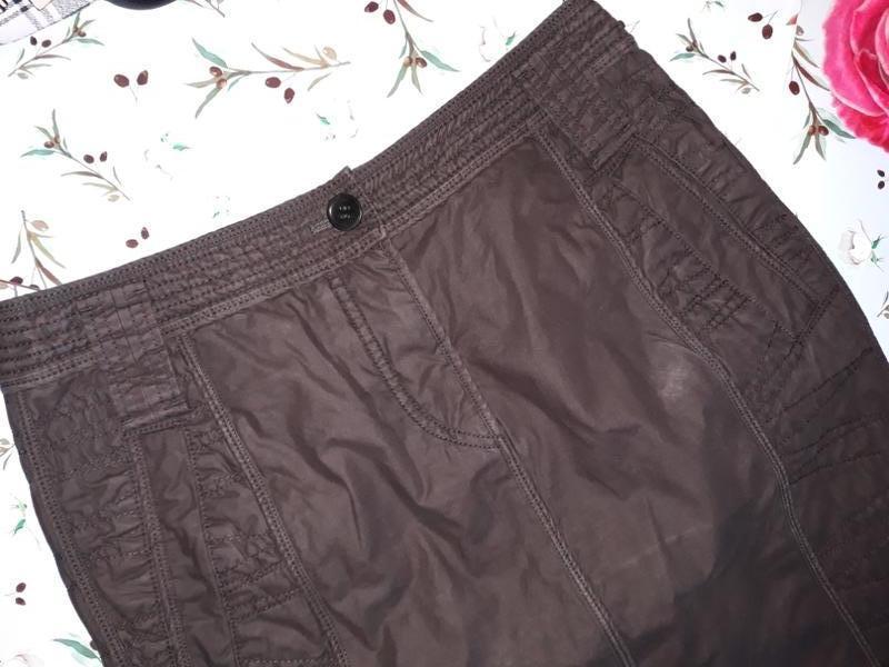Теплая коричневая юбка - карандаш, размер 44 - 46