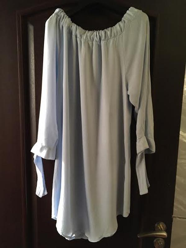 Голубое платье туника