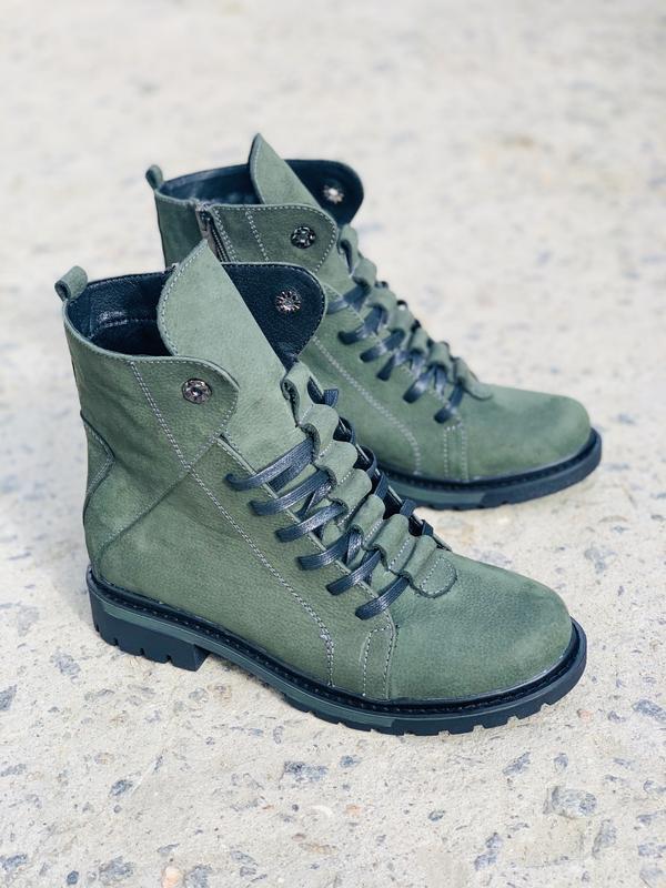 Крутые качественные женские ботинки {кожа}