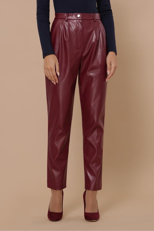Шикарные брюки из экокожи