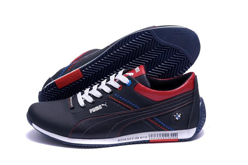 Мужские кожаные кроссовки Puma BMW MotorSport - Фото 9