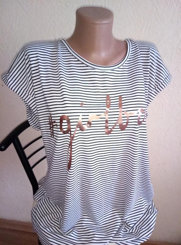 Майка футболка с интересным принтом надписью girlboss