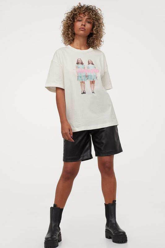 Футболка в принт. футболка оверсайз с принтом.