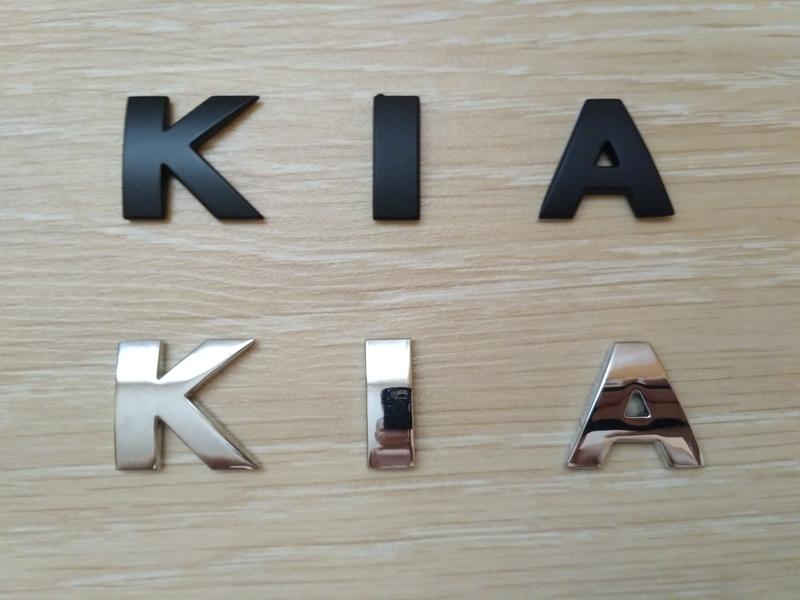 Металлические буквы KIA на кузов авто - Фото 5