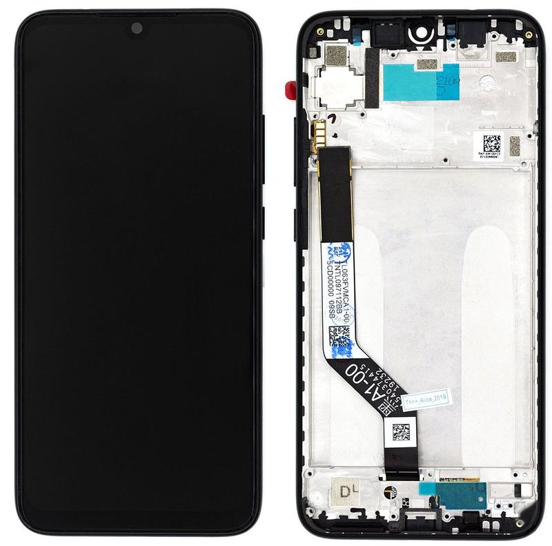 Дисплей (Lcd) Xiaomi Redmi Note 7 black complete with frame