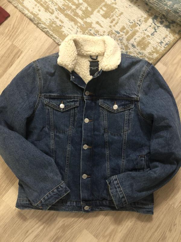 Джинсовая куртка на флисе new look, новая!