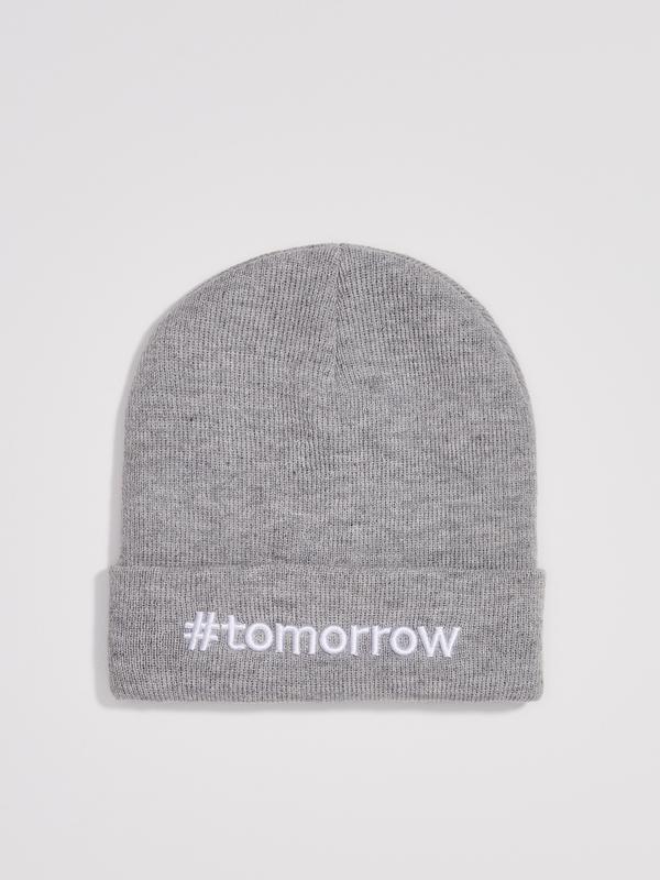 Новая женская светло-серая шапка серая польша вышитая надпись ...