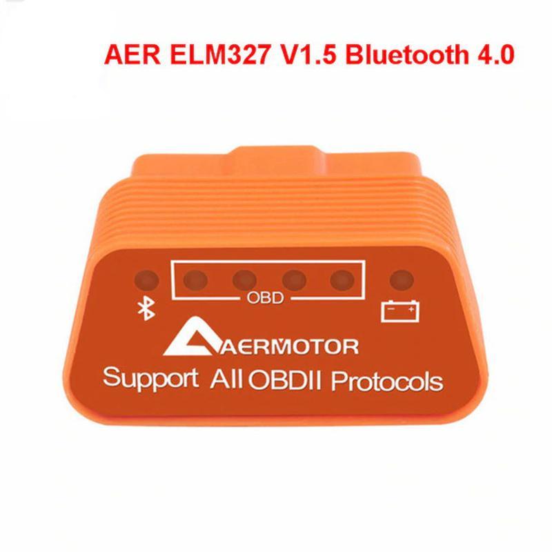 Автосканер AERMOTOR Bluetooth 4 для диагностики OBD2 ELM327 V1.5
