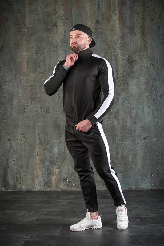 Спортивный костюм мужской демисезонный черный