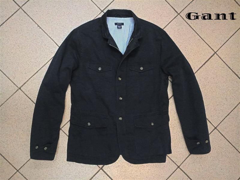 Мужская куртка пиджак блейзер gant - Фото 4