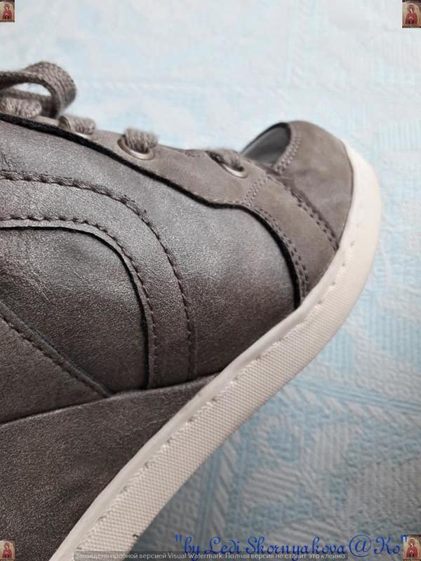 Новые удобные сникерсы красивого цвета хаки с серым и скрытой ... - Фото 2