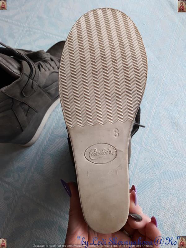 Новые удобные сникерсы красивого цвета хаки с серым и скрытой ... - Фото 3