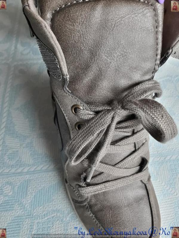 Новые удобные сникерсы красивого цвета хаки с серым и скрытой ... - Фото 6