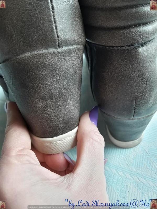 Новые удобные сникерсы красивого цвета хаки с серым и скрытой ... - Фото 7
