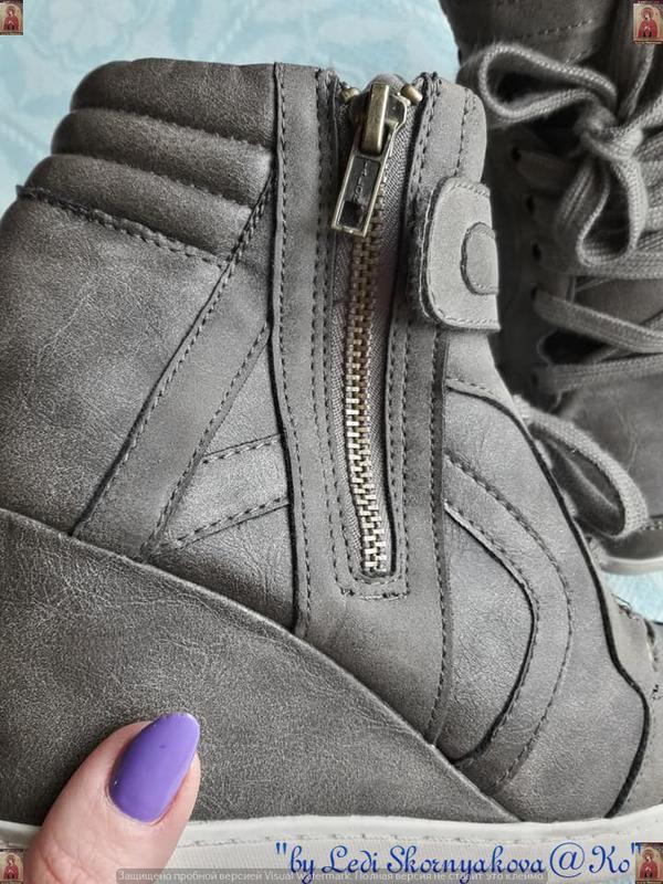 Новые удобные сникерсы красивого цвета хаки с серым и скрытой ... - Фото 10