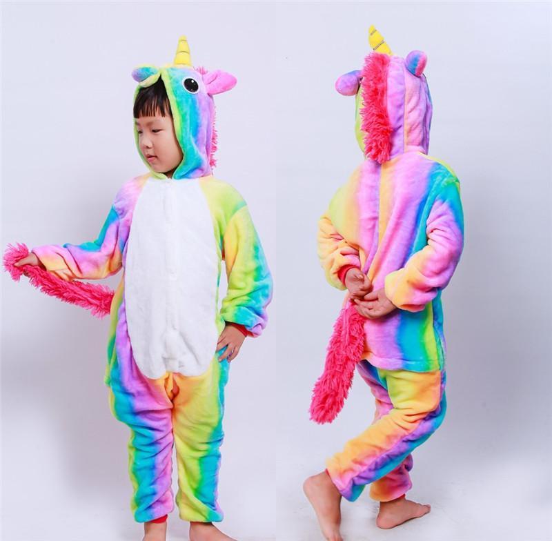 Детская пижама кигуруми единорог