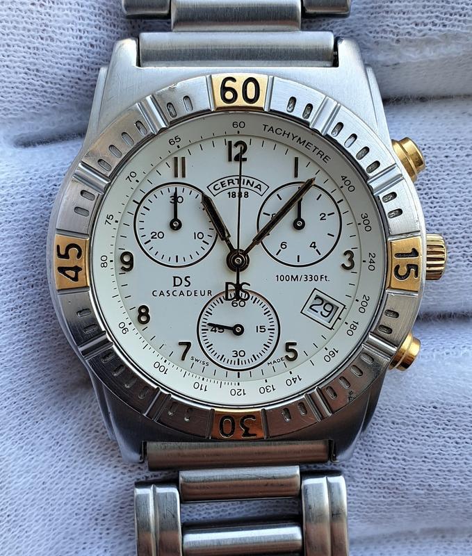 Мужские часы certina cascadeur ds 100m sapphire chronograph - Фото 3