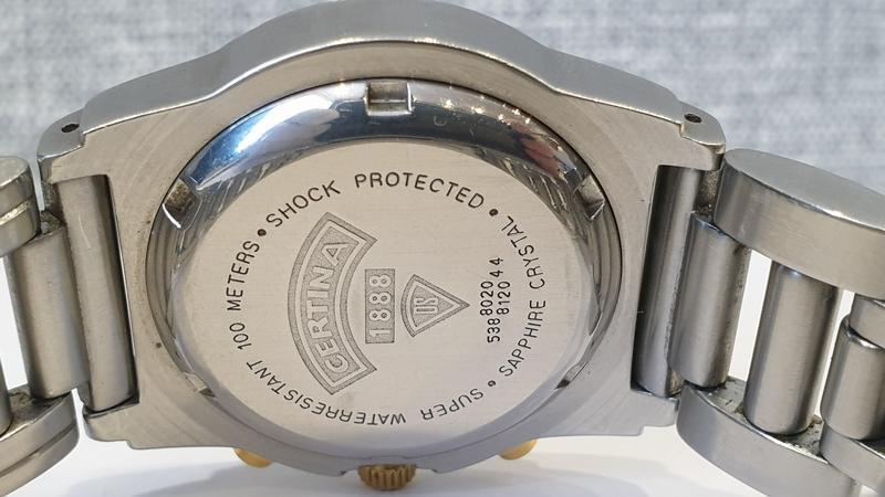 Мужские часы certina cascadeur ds 100m sapphire chronograph - Фото 7