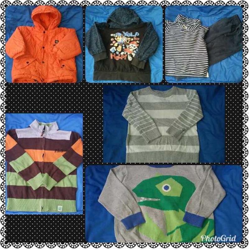 Пакет вещей для мальчика 92-98 размер кофты штаны куртка