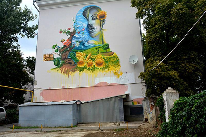 Художественная роспись стен, муралов по Украине.