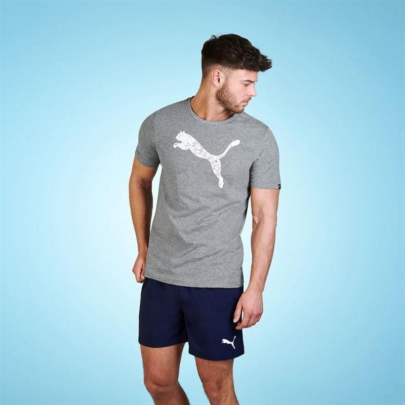 Мужская серая футболка puma оригинал