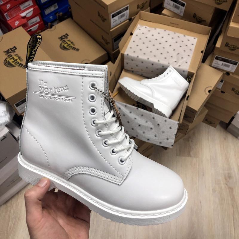 Зима🤩dr martens 1460 white🤩женские кожаные зимние ботинки/сапо... - Фото 4