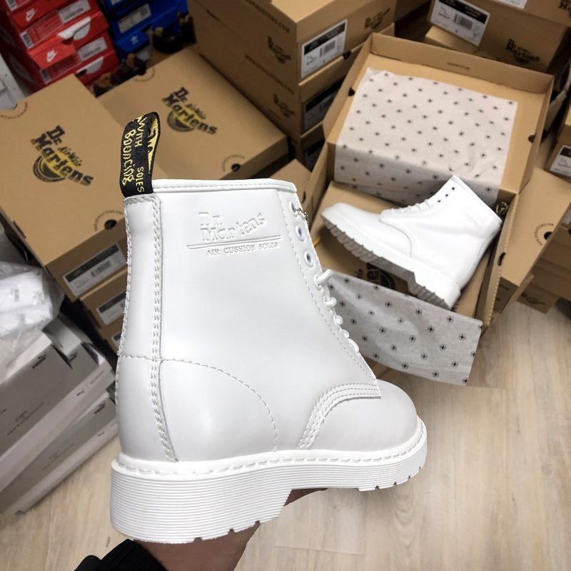 Зима🤩dr martens 1460 white🤩женские кожаные зимние ботинки/сапо... - Фото 5