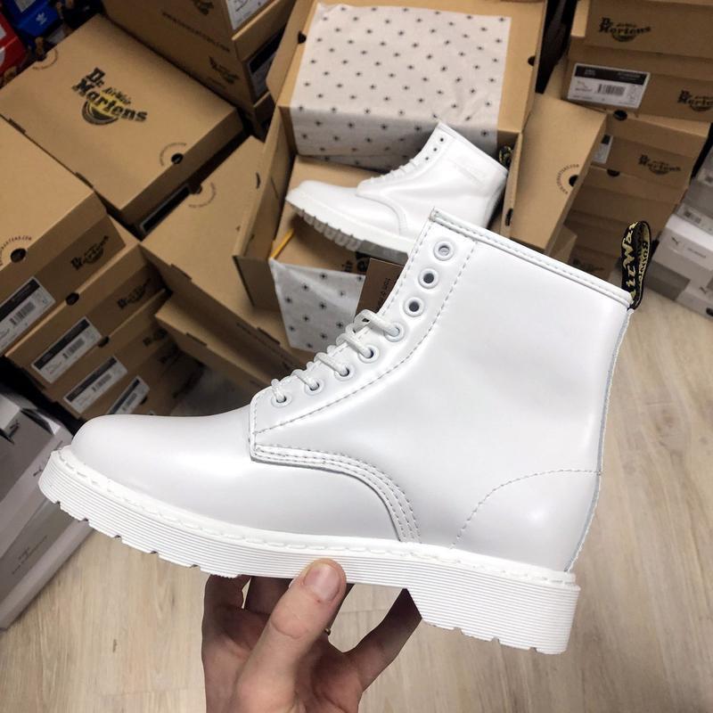 Зима🤩dr martens 1460 white🤩женские кожаные зимние ботинки/сапо... - Фото 6