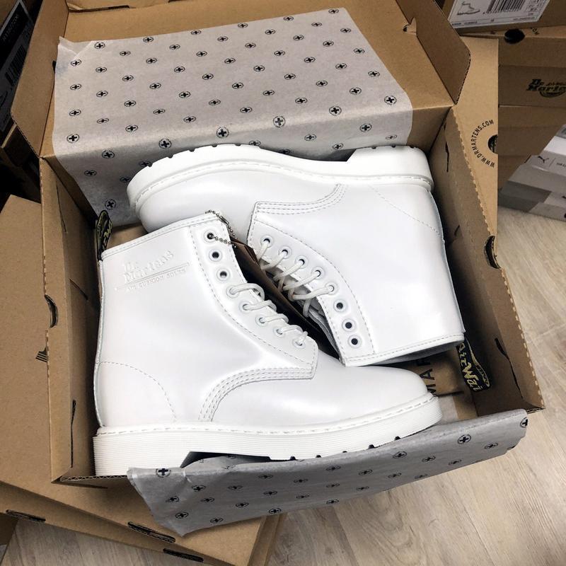 Зима🤩dr martens 1460 white🤩женские кожаные зимние ботинки/сапо... - Фото 8