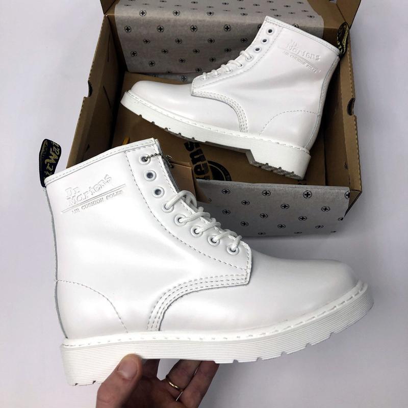 Зима🤩dr martens 1460 white🤩женские кожаные зимние ботинки/сапо... - Фото 9