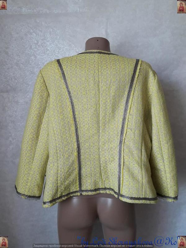 Новый твидовый жакет/пиджак сочного лимонного цвета с нитью лю... - Фото 2