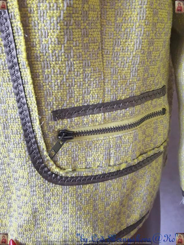 Новый твидовый жакет/пиджак сочного лимонного цвета с нитью лю... - Фото 7