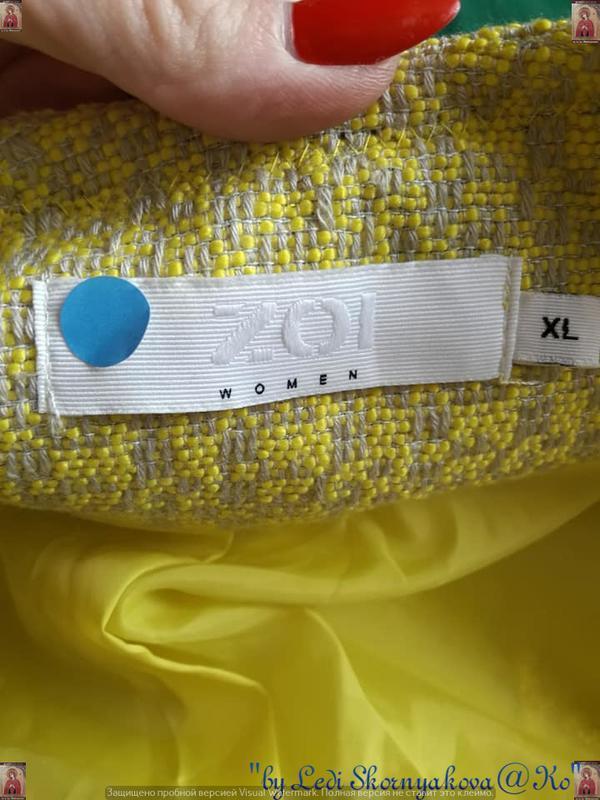Новый твидовый жакет/пиджак сочного лимонного цвета с нитью лю... - Фото 10