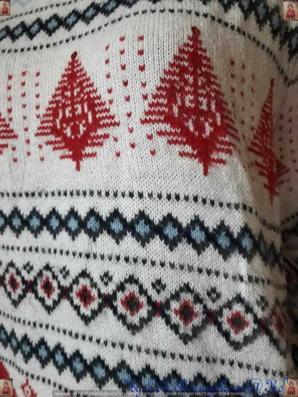 """Фирменный h&m свитерок на новогоднюю/зимнюю тематику """"ромбы"""", ... - Фото 6"""