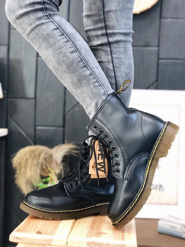 Ботинки dr. martens мех - топ качество - Фото 9