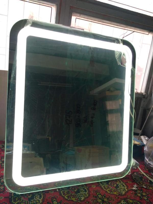 Зеркало ЛЕД подсветка + алмазная гравировка. - Фото 2