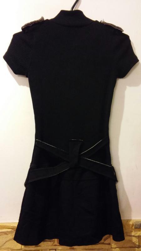 Черное платье мини - Фото 2