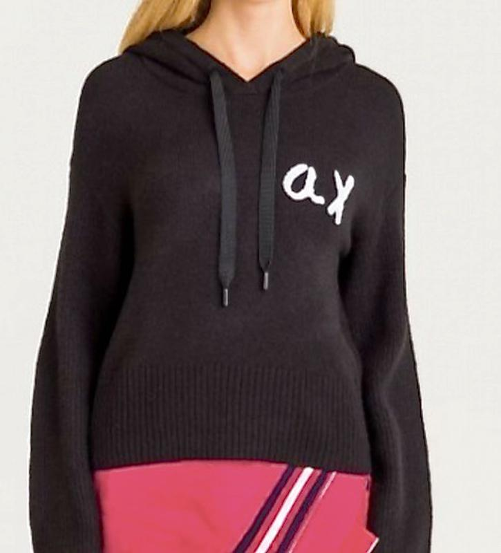 Новенький пуловер/свитшот Armani свободного кроя с капюшом