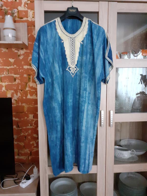 Роскошное вискозное платье, вышитое тесьмой большого размера