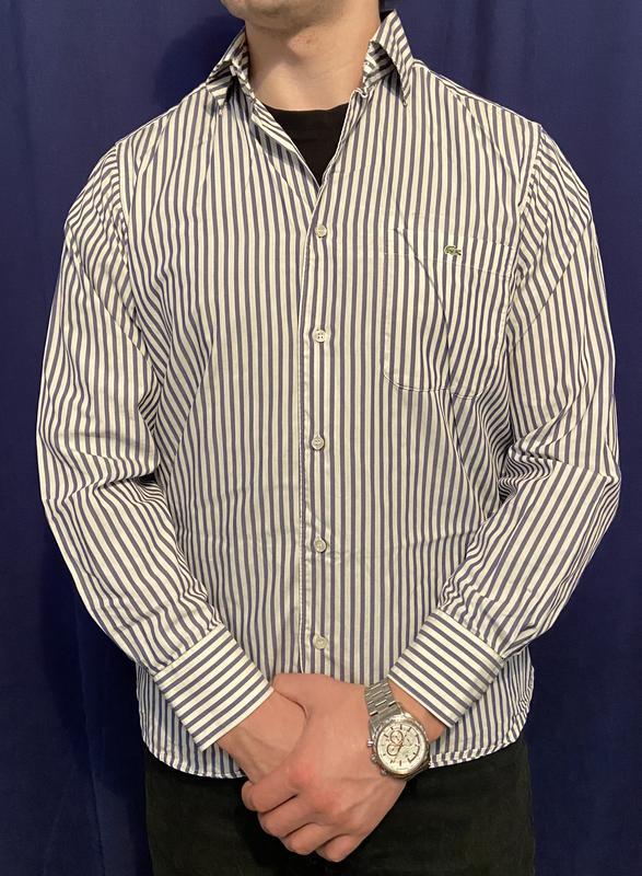 Классическая мужская рубашка Lacoste L - Фото 3