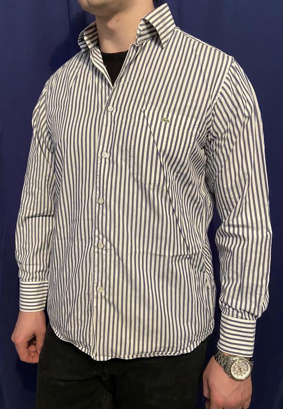 Классическая мужская рубашка Lacoste L - Фото 2