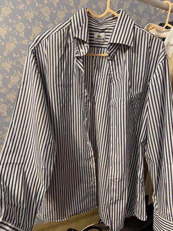 Классическая мужская рубашка Lacoste L - Фото 5
