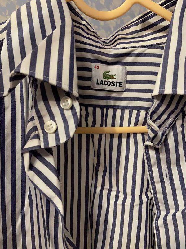 Классическая мужская рубашка Lacoste L - Фото 4